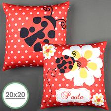 Ladybug Personalized Large Pillow Cushion Cover 20