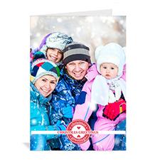 Custom Printed Christmas Greetings Stamps Greeting Card