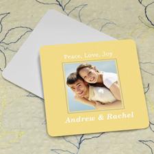 Lemon Personalized Photo Square Cardboard Coaster