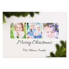 Merry Christmas Personalized Photo Christmas Card