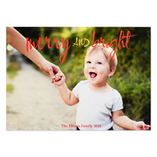 Merry And Bright Personalized Photo Christmas Card