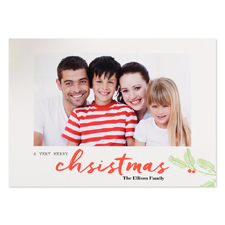 A Very Merry Christmas Personalized Photo Christmas Card