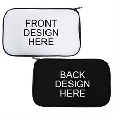 Custom 2 Side Neoprene Cosmetic Bag Black
