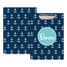 Navy Anchor Personalized Clipboard