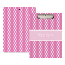 Pink Polka Dot Personalized Clipboard