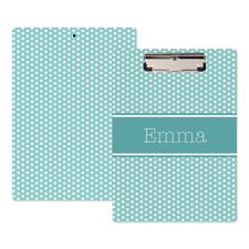 Blue Polka Dot Personalized Clipboard