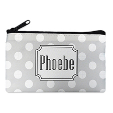 Dots Personalized Cosmetic Bag (Many Color)