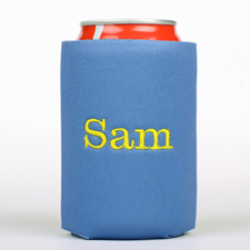 Royal Blue Monogrammed Personalized Embroidered Can Cooler