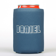 Navy Monogrammed Personalized Embroidered Can Cooler