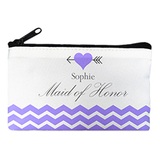 Plum Love Arrow Personalized Cosmetic Bag, 4X7