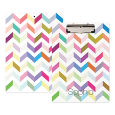 Colorful Zig Zag Personalized Clipboard