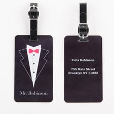 Mr. Personalized Wedding Luggage Tag