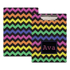 Colorful Chevron Personalized Clipboard