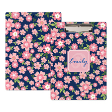 Pink Flower Personalized Clipboard
