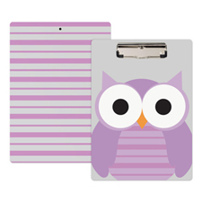 Cute Owl Personalized Clipboard