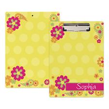 Flower Garden Personalized Clipboard