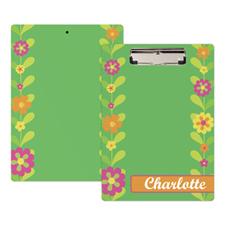 Cute Flower Personalized Clipboard