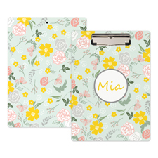 Floral Personalized Clipboard