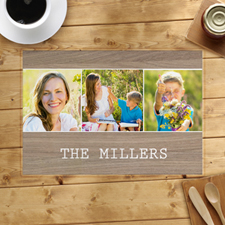 Wood Three Collage Personalized Placemat