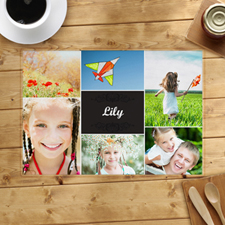 Six Collage Photo Personalized Placemat