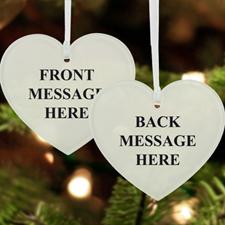 Custom Message Acrylic Ornament Heart Shape