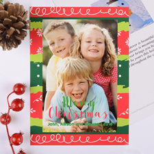 Colorful Christmas Personalized Photo Card