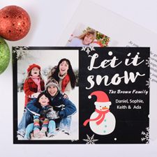 Let It Snow Personalized Photo Christmas Card
