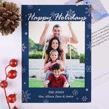 Holiday Blessing Personalized Christmas Photo Card