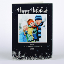 Frozen In Time Personalized Photo Christmas Card, Folded 5X7