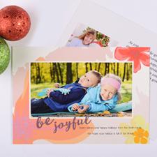 Be Joyful Personalized Photo Christmas Card