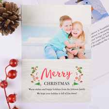 Merry Little Christmas Personalized Photo Card