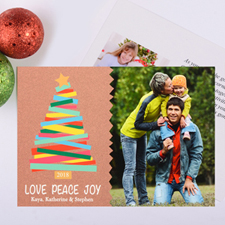 Merry Trees Personalized Christmas Photo Card