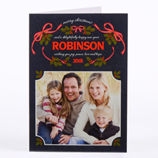 Wreath Of Love Personalized Photo Christmas Card