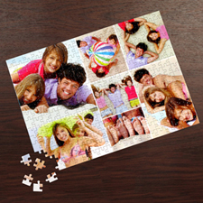 Personalized White Seven Collage 12X16.5 Personalized Photo Jigsaw Puzzle Photo Puzzle