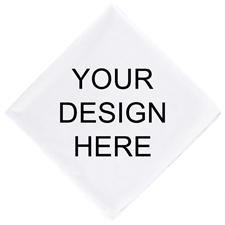 Custom Full Color Bandana Handkerchief With Text, 14X14 Inch