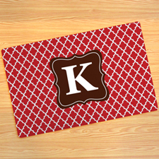 Red Clover Personalized Doormat 17X27