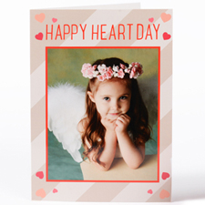 Craft Hearts Personalized Photo Valentine's Card, 5X7 Folded