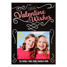 Sending Valentine Wishes Personalized Photo Card