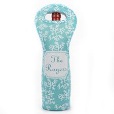 Aqua Reef Personalized Neoprene Wine Tote Bag