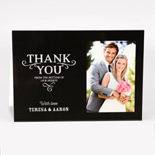 Personalized Thank You From The Bottom Of Our Hearts Photo Card For Wedding