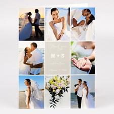 Personalized Thank You With Love From Collage Photo Card For Wedding