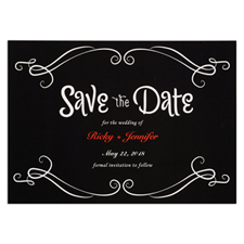 Chalkboard Personalized Save The Date Card