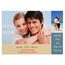 Collage Personalized Photo Save The Date Card