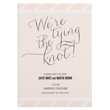 We'Re Tying The Knot Personalized Save The Date Card