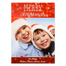Merry Christmas Personalized Photo Card