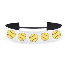 Softball Personalized Name 1.5 Inch Headband