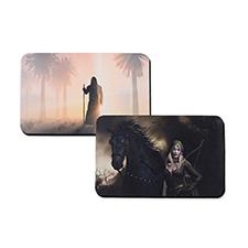 Custom Imprint 16X10 Rubber Game mat, 2-sides