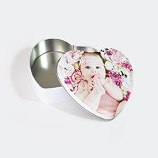 Custom Design Heart-Shaped Tin Box, Small