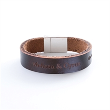 Customized Monogrammed Leather Bracelet