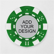 Personalized Green Striped Dice Poker Chip